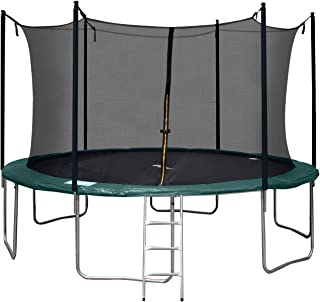 Tiptiper 12 ft Trampoline Outdoor Trampoline with Safety enclosures net and Ladder, Round Trampoline for Kids and Adults