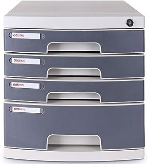 XHMCDZ Drawer Organizers Office Cabinets, Racks & Shelves Office Vertical Files 4 Layers Lockable Data Cabinet Desktop Fil...