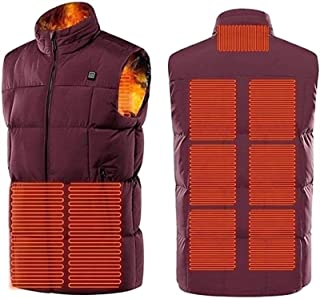 Man Woman Heated Vest, USB Electric Heated Coat with Adjustable Temperature, Washable Hot Jacket, 9 Heating Zones, Suitabl...