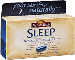 Nature Made Natural Sleep Aid Liquid Softgels 30 ea