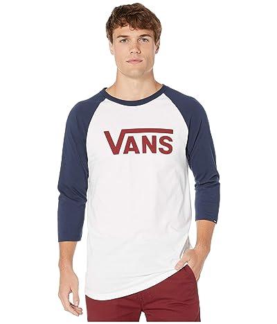 Vans Vans Classic Raglan (White/Dress Blues/Biking Red) Men