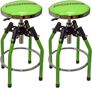 OEMTOOLS 24912TWO Adjustable Hydraulic Stool for Shop, Garage, Workshop, Man Cave-2 Pack, Green