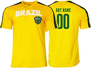 Pana brazil Jersey Flag Brasil Youth Training Custom Name and Number Soccer Any Sport Celebration World cup Olympic