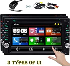 EINCAR Double 2 Din Car GPS Navigation Stereo 7 Inch HD Capaicitve Touchscreen In Dash Car Radio Bluetooth Head Unit DVD CD Player MP3 USB SD 3 UIs 7 Backlights Wireless Remote Reverse Camera