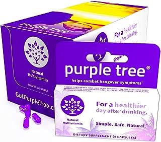 Purple Tree Hangover Prevention Kit   Dihydromyricetin (DHM), Electrolytes, Vitamin B, NAC, Willow Bark   Promotes Liver Health & Detox   Travel Friendly (10 Packets of 4 Pills)