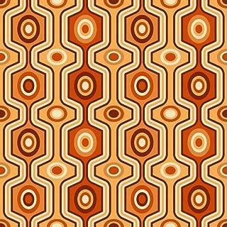Wallmonkeys Seamless Orange Retro Pattern Wall Decal Peel and Stick Graphic WM204918 (30 in H x 30 in W)