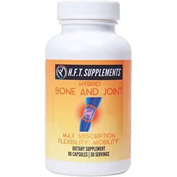 Glucosamine Chondroitin with MSM Turmeric Curcumin Boswellia Frankincense Vitamin D Joint Support by H.F.T. Supplements   May Support Joint Pain Relief & Help Inflammatory Response with Antioxidants