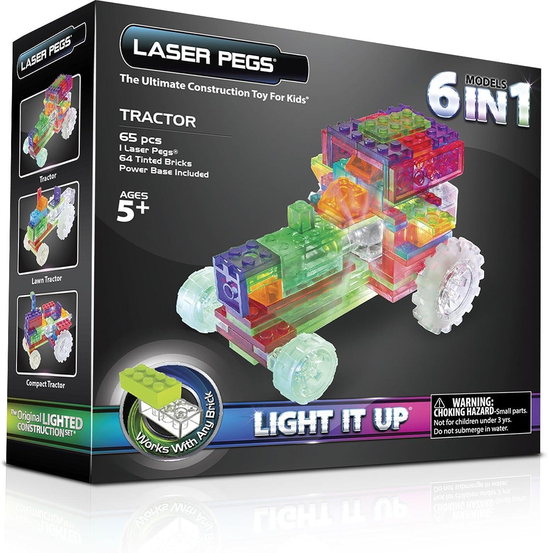 Laser Pegs 6-in-1 Tractor Building Set by Laser Pegs B00K6EYJXY  Langfristiger Ruf | Neuheit