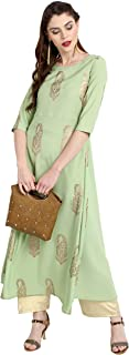 green color kurtis