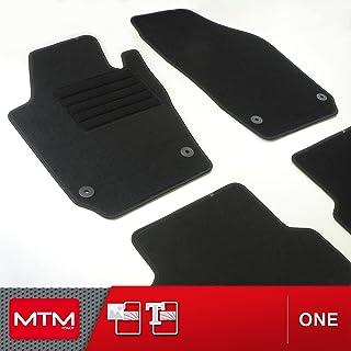 Skoda fabia /& favorit voiture universel tapis de sol noir /& bord rouge