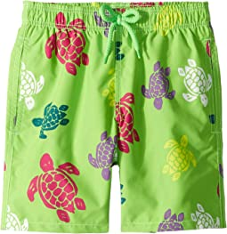 Tortues Multicolores Turtles Printed Trunks (Little Kids/Big Kids)