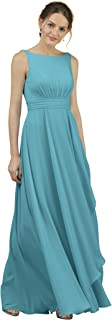 Alicepub A-Line Chiffon Bridesmaid Dress Long Party Evening Dresses Prom Gown Maxi