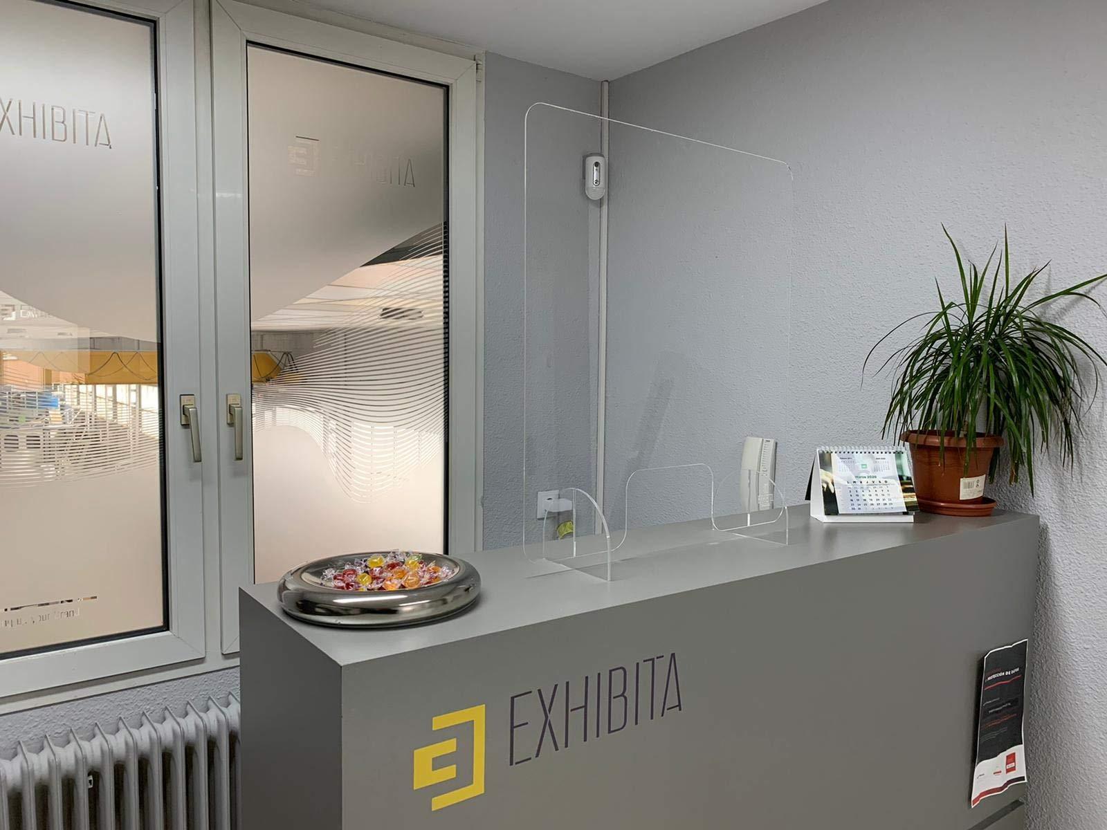 Mampara Metacrilato 100x75cm para farmacias, oficinas y Comercio ...