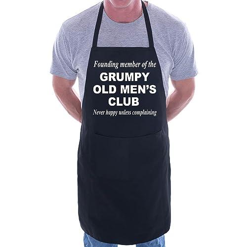 c924ae184db5f Grumpy Old Men BBQ Cooking Funny Novelty Apron