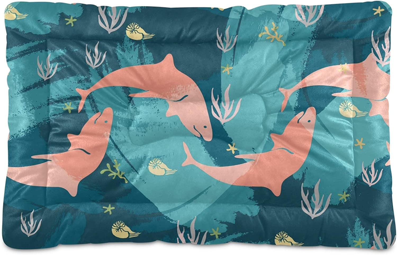 Dog Bed Shark El Paso Mall Animal Crate Mat Mattress M Washable for Large Alternative dealer