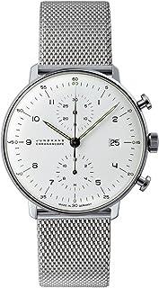 JUNGHANS - MAX Bill Chronoscope 027/4003.44 - Reloj cronógrafo automático para Hombre, Correa de Acero Inoxidable Color Plateado (Agujas luminiscentes, cronómetro)