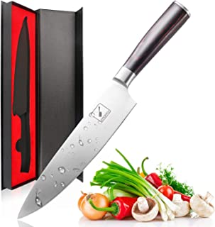 imarku Chef Knife – Pro Kitchen Knife 8 Inch Chefs knife High Carbon German..