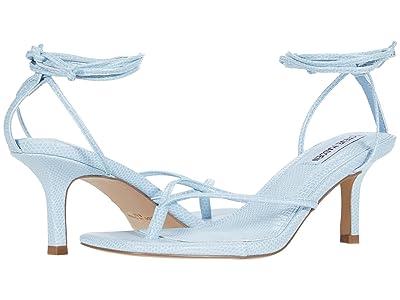 Steve Madden Lori Heeled Sandal (Blue Lizard) Women