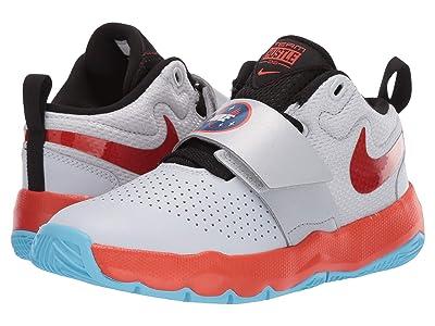 Nike Kids Team Hustle D 8 SD (Little Kid) (Pure Platinum/Team Orange/Black) Boys Shoes