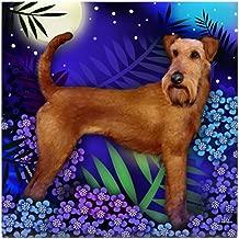 CafePress - Irish Terrier Dog Moon Garden Tile Coaster - Tile Coaster, Drink Coaster, Small Trivet