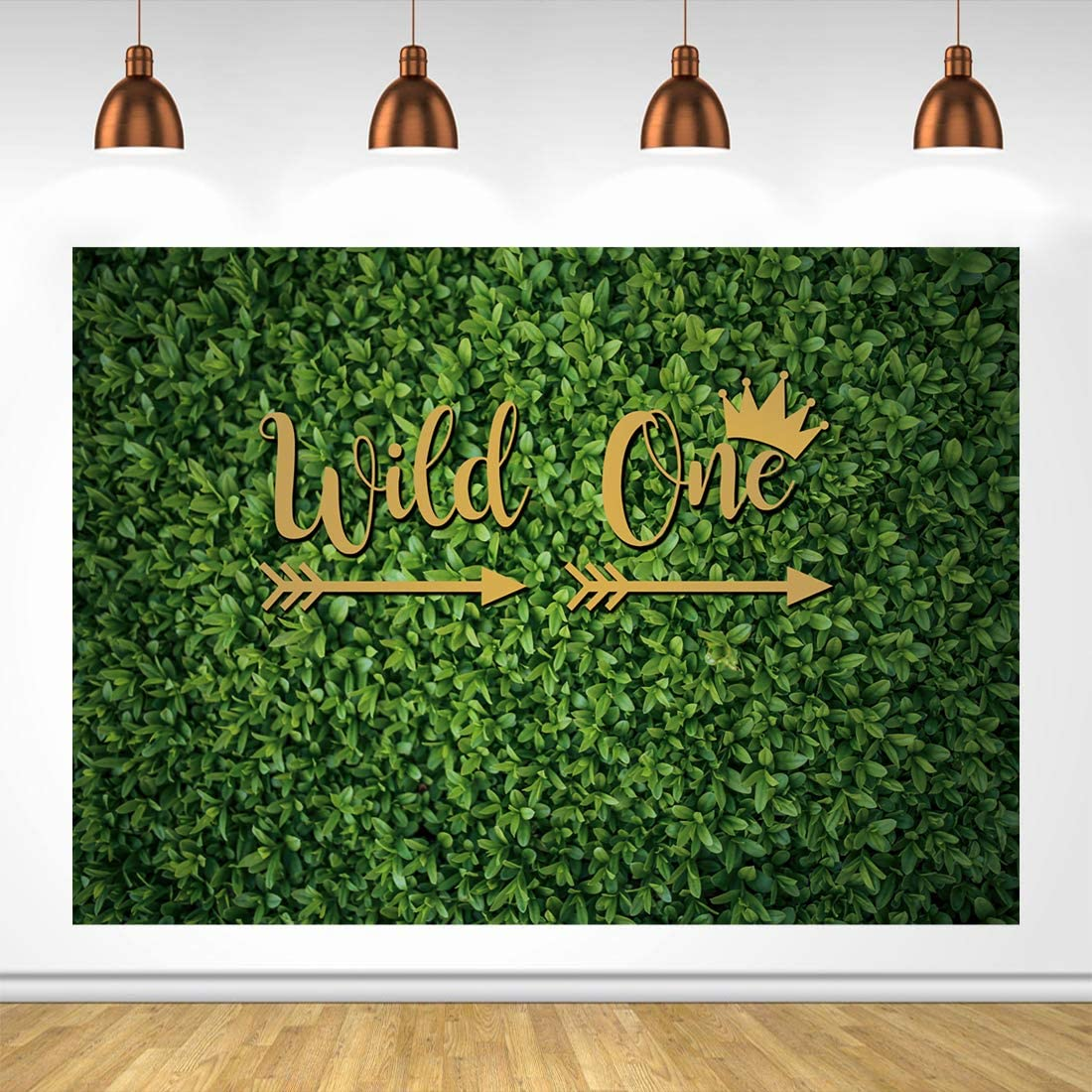 Wild One 1st Birthday Photography 55% OFF Virginia Beach Mall Golden Backdrop Leaves Green G
