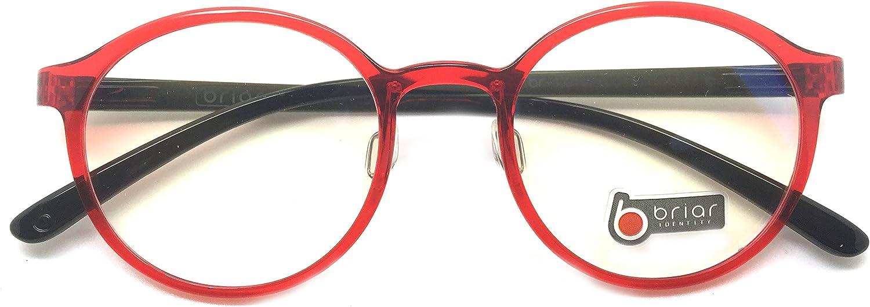 Briar Prescription Eye Glasses Frame Ultem Super Light, Flexible Br 303 C10