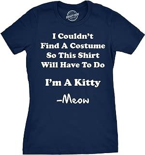 Women's I'm A Kitty Meow Halloween Costume T Shirt Funny Cat Shirt for Women