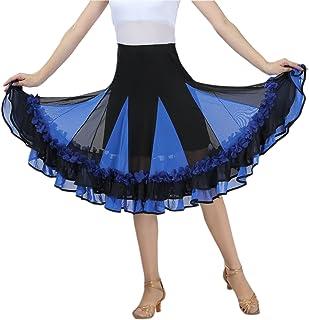 CISMARK Elegant Ballroom Dance Latin Dance Skirt for Women