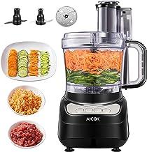 غذاساز ، خردکن سبزیجات AICOK 12 فنجان برای خرد کردن ، خرد کردن ، خرد کردن و پوره ، غذاساز 4 سرعته ، موتور قدرتمند ، بدون BPA