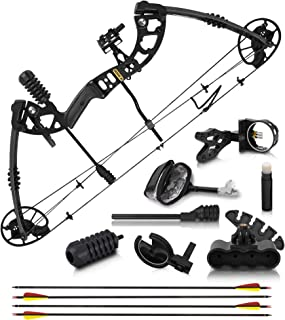 2021 Compound Bow and Arrow for Adults and Teens – Bowfishing and Hunting Bow with Gordon Limbs Made in USA - Fully Adjust...
