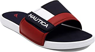 Nautica Kids Bower Youth Athletic Slide, Adjustable Straps Comfort Sandal (Little Kid/Big Kid)