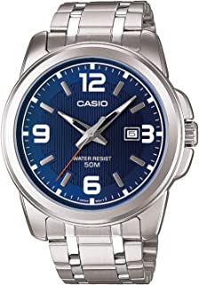 Casio Watch For Men Blue Dial Stainless Steel Band - MTP-1314D-2AV