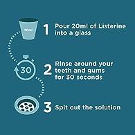 Listerine Cool Mint Mouthwash - Pack of 3 Bottles (3 x 500 ml)