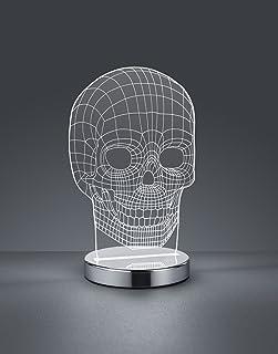 Reality - Skull Sobremesa Integrado, 7 W, Cromo, 12 x 14,5 x 21,5 cm