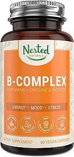 Sponsored Ad - Vegan B-Complex Vitamins Plus Choline & Inositol | High Potency B1, B2, B3, B5, B6, B7, B9 Supplement with ...