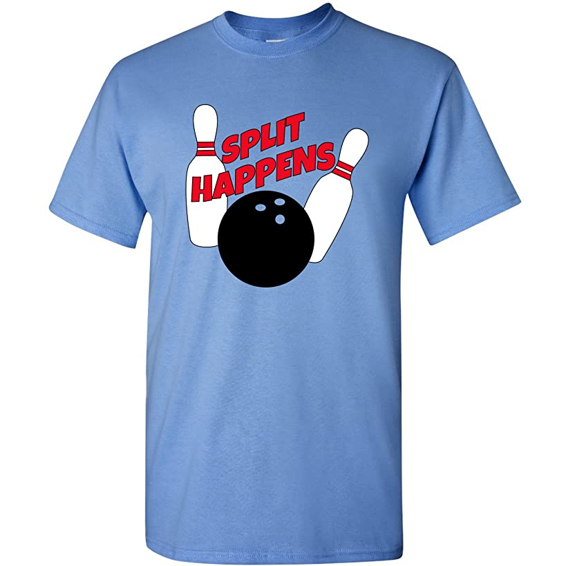 Split Happens - Funny Bowling Pins Bowler Team Sarcastic Humor T Shirt