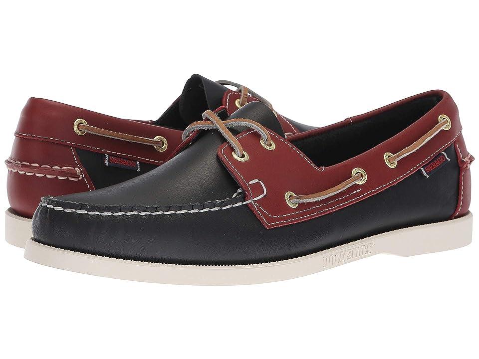 Sebago Spinnaker (Navy/Red) Men's Shoes