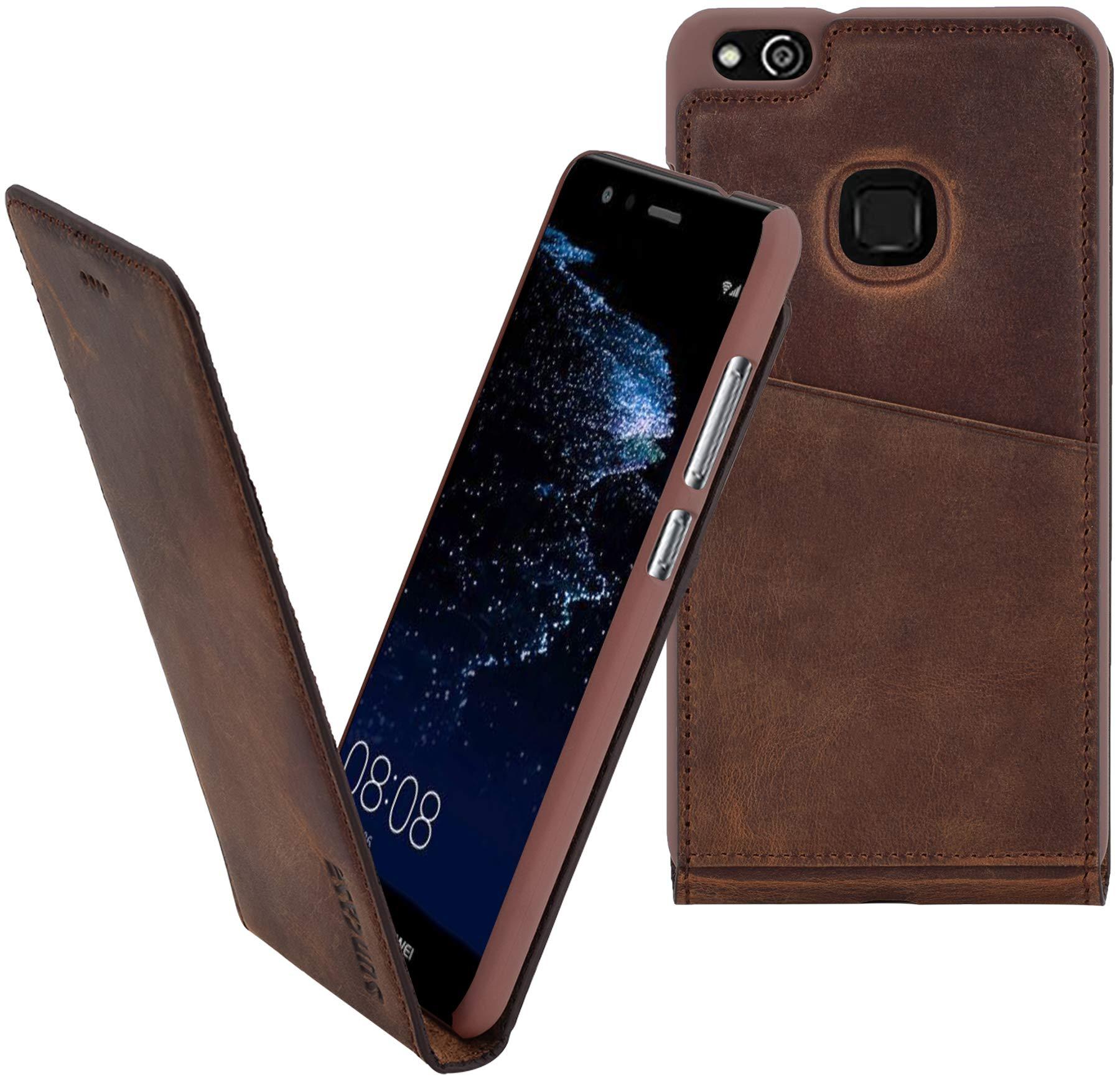 Suncase Huawei P10 Lite | Original Flip-Style (Ultra-Slim) Piel Funda Carcasa Case Cover Carcasa: Amazon.es: Electrónica