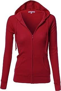 Women's Basic Slim Fit Lightweight Zipper Drawstring Hooded Jackets