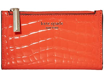 Kate Spade New York Sylvia Small Slim Bifold Wallet (Fire Lily) Bi-fold Wallet