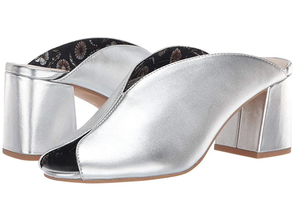 60s Shoes, Boots | 70s Shoes, Platforms, Boots Seychelles By The Beach II Slide Silver Womens ClogMule Shoes $109.00 AT vintagedancer.com