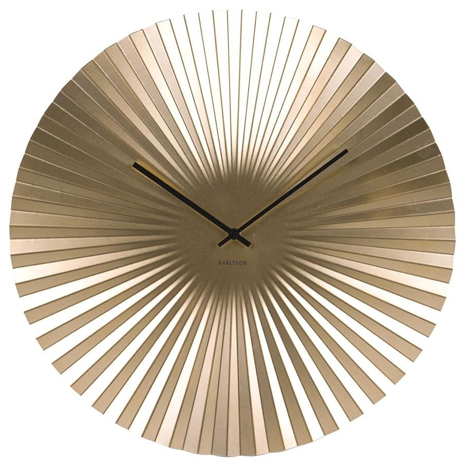 容赦ないチャンススキップカールソン◆KARLSSON KA5658GD◆センス 掛け時計(ゴールド50cm)◆Sensu Clock Large