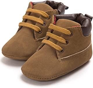 Baby Boys Girls Soft Sole Leather Lace-up Infant Toddler Shoes Sneaker