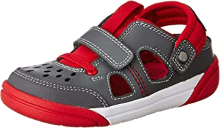 Clarks Boy's LilfolkSky Inf Red Combi Mules