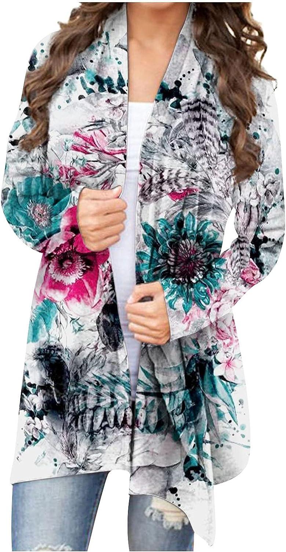 Women Halloween Skull Skeleton Print Open Front Knitted Cardigan Ladies Long Sleeve Plus Size Blouse