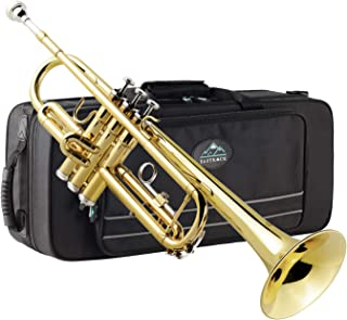 Eastrock Trumpet Brass Standard Bb Trumpet Set for Beginnner, Student with Hard Case, Gloves, 7C Mouthpiece, Trumpet Cleaning Kit-Lacquer Gold