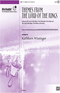 <i>The Lord of the Rings,</i> Themes from - Featuring <i>The Lord of the Rings: The Fellowship of the Ring</i> and <i>The Lord of the Rings: The Return of the King</i> - Arr. Kathleen Wissinger - Octavo - 3-7 Octaves Handbells with Opt. 3-5 Octaves Handchimes