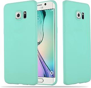 Cadorabo Funda para Samsung Galaxy S6 Edge Plus en Candy Azul - Cubierta Proteccíon de Silicona TPU Delgada e Flexible con Antichoque - Gel Case Cover Carcasa Ligera
