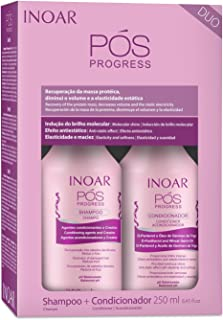 Kit Duo Shampoo e Condicionador Pós Progress, Inoar, 250 ml