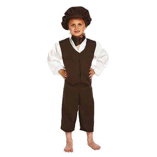 Girls Historical Victorian Poor Girl Costume Olden School Day Book Week Dress